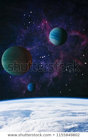 красочный глубокий пространстве Вселенной Элементы изображение Сток-фото © NASA_images