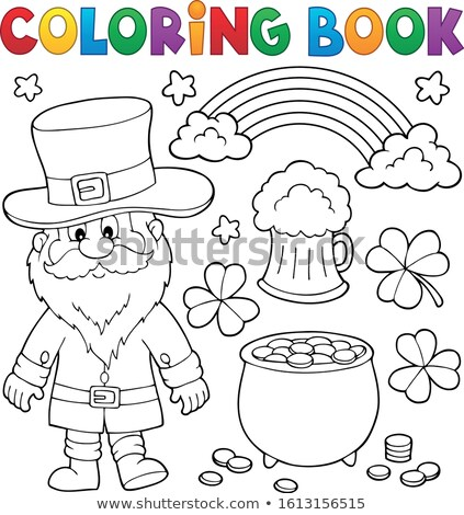Coloring book St Patricks Day set 1 Stock photo © clairev