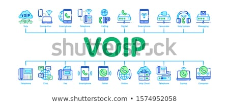 Voip roepen banner vector Stockfoto © pikepicture