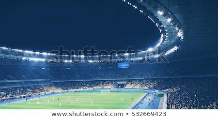Sport Stadion Trophäe Champion gewinnen Meisterschaft Stock foto © JanPietruszka