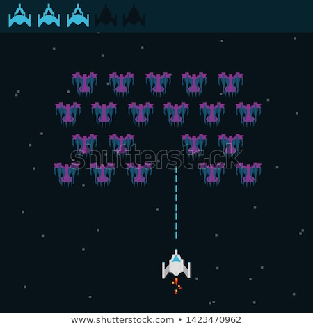 Screen of War, Spaceship and Ufo, Shoot Vector Stock photo © robuart
