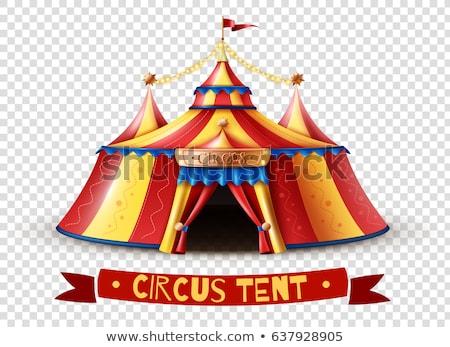 Assinar modelo circo tenda ilustração homem Foto stock © bluering