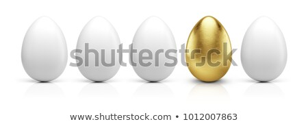 Easter chicken golden and white eggs Stock photo © furmanphoto