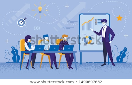 Działalności konsultacji spotkanie charakter wektora ludzi Zdjęcia stock © robuart