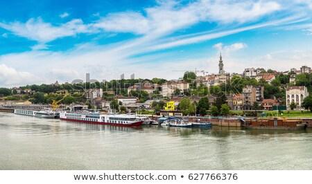 Belgrado donau rivier boten stadsgezicht panoramisch Stockfoto © xbrchx