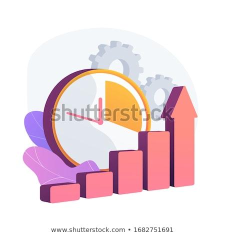 Skuteczny czasu wektora metafora zegar wykres Zdjęcia stock © RAStudio
