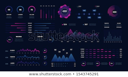 Statistics and Data on Screen, Digital Info Vector Stock photo © robuart