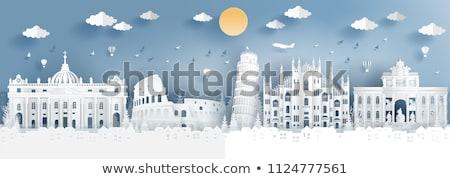 Колизей Рим Blue Sky Италия туризма Сток-фото © ShustrikS