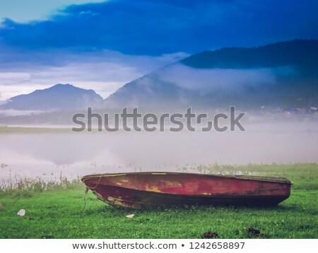 Panorama lago montanhas sibéria Rússia beleza Foto stock © olira