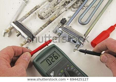 Tesztelés elektromos eszköz javítás hűtőszekrény otthon Stock fotó © AndreyPopov