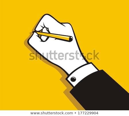 Felirat név papír toll munka dolgozik Stock fotó © johnkwan