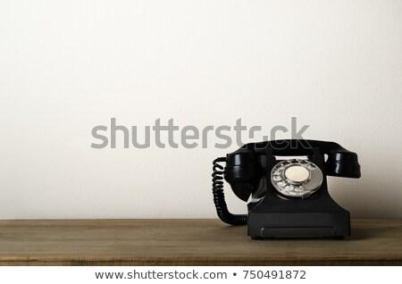 Marfim retro telefone antiquado princesa estilo Foto stock © JamiRae