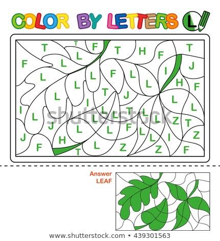 Letter l woorden onderwijs taak kinderen cartoon Stockfoto © izakowski