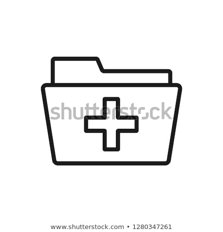 patient medical record icon vector outline illustration Stock photo © pikepicture
