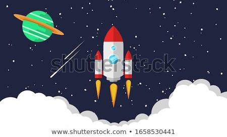 Raum Exploration farbenreich Design Stil Symbole Stock foto © Decorwithme