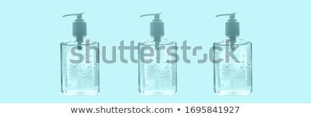 Mão garrafas projeto coronavírus suprimentos médicos azul Foto stock © Maridav