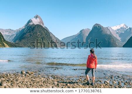 Új-Zéland turista pár kirándulás néz hang Stock fotó © Maridav