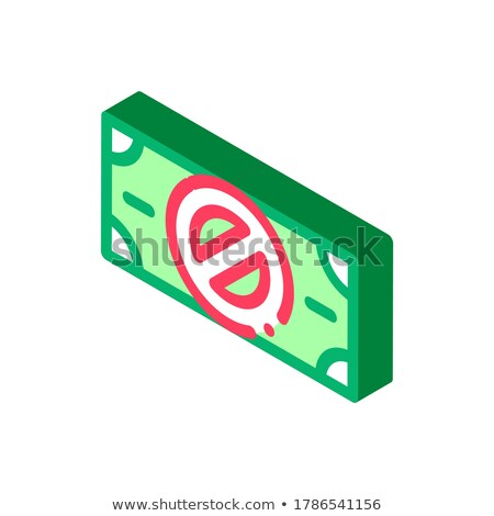 Fake Banknotes without Logo isometric icon vector illustration Stock photo © pikepicture