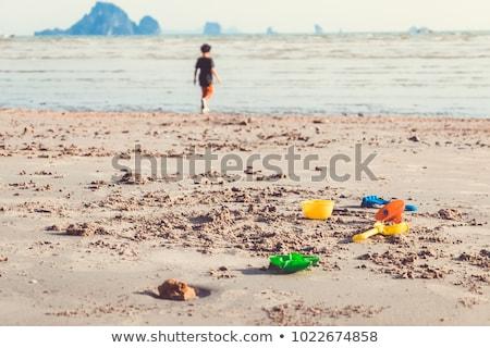 criança · grupo · diversão · jogar · praia · brinquedos - foto stock © dotshock