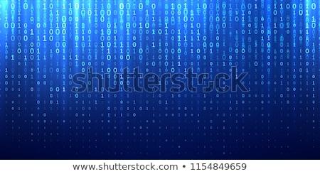 Matrix Blue Stock photo © hlehnerer