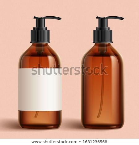 rosa · sabão · garrafa · isolado · branco · bar - foto stock © tetkoren