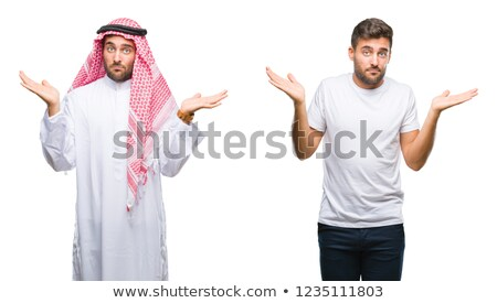 Arab man shrugging Stock photo © lovleah