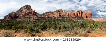 Panorama of Sedona Rocks Stock photo © backyardproductions