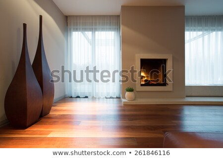 fireplace in a drawing room stock photo © kash76