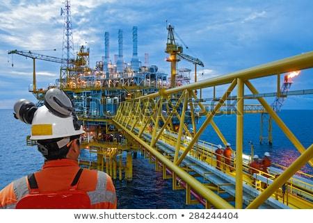 olaj · part · california · tenger · kék · ipar - stock fotó © eyeidea