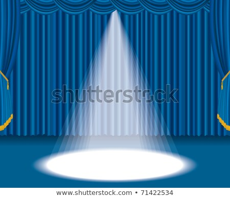 Stage with blue curtain and big spot light Stock photo © dvarg