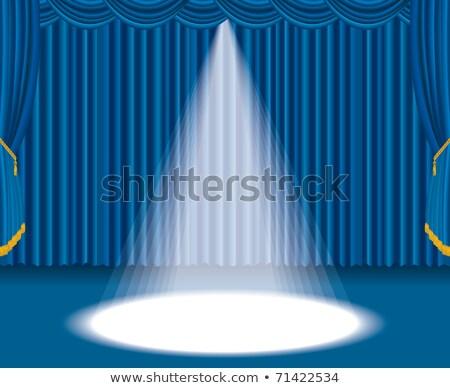 etapie · niebieski · kurtyny · duży · miejscu · świetle - zdjęcia stock © dvarg