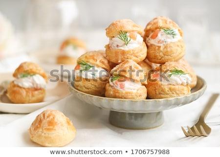 Leharcolt lazac tányér izolált fehér hal Stock fotó © zybr78