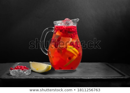 Stock photo: Cranberry with mint