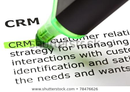 頭字語 · crm · 顧客 · 関係 · 管理 · 書かれた - ストックフォト © bbbar