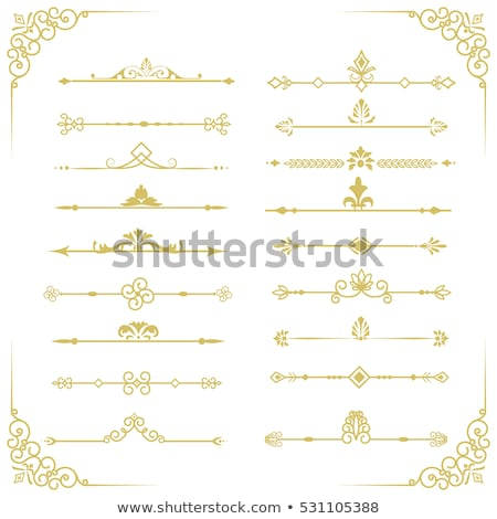 Ornate corners and page dividers stock photo © hugolacasse