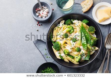 пасты кремом растительное соус оливками маслины Сток-фото © calvste