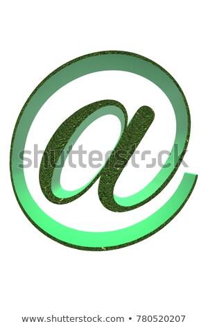 Groene e-mail teken witte business kantoor Stockfoto © chrisroll