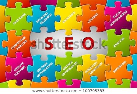 vetor · relatório · modelo · cooperação · linhas - foto stock © orson