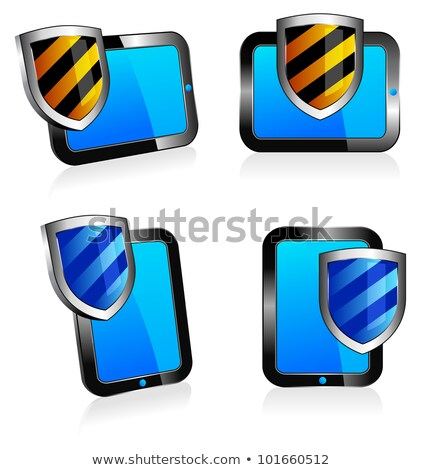 shield antivirus tablet 3d and 2d stock photo © fenton