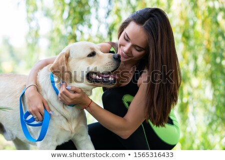 femme · Husky · maison · Homme · blanche · animaux - photo stock © photography33