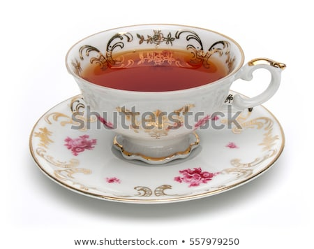 Stok fotoğraf: Yalıtılmış · fincan · çay · içmek · kırmızı · kahvaltı