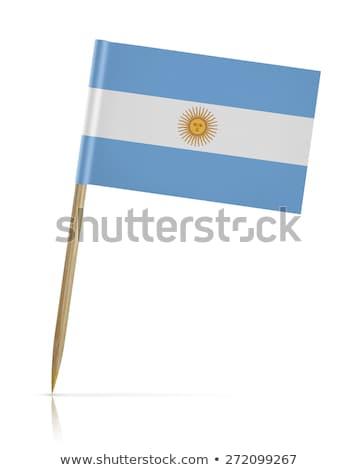 Minyatür bayrak Arjantin yalıtılmış toplantı Stok fotoğraf © bosphorus