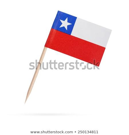 Miniatűr zászló Chile izolált vágási körvonal megbeszélés Stock fotó © bosphorus