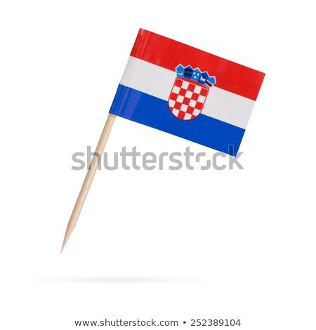миниатюрный флаг Хорватия изолированный заседание Сток-фото © bosphorus
