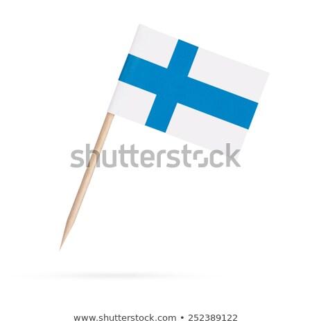 ミニチュア フラグ フィンランド 孤立した ビジネス ストックフォト © bosphorus