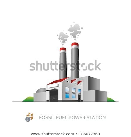 Ogrzewania roślin budynku budowy technologii dymu Zdjęcia stock © stevanovicigor