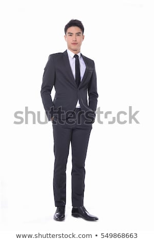 Stock fotó: Handsome Young Asian Business Man Thinking
