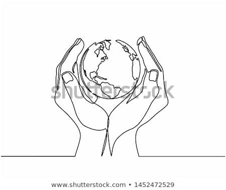 Gömb labda illusztráció kommunikáció vonalak átlátszó Stock fotó © fenton