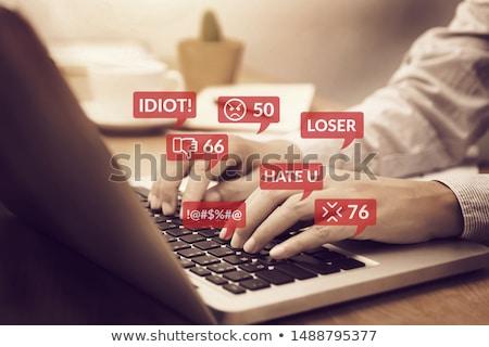 internet · megfélemlítés · számítógép · kulcsok · helyesírás · szó - stock fotó © leeavison