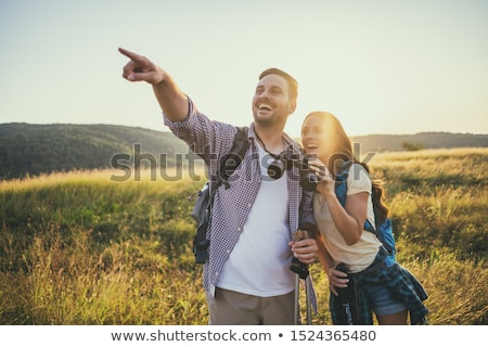 Couple with binoculars Stock photo © photography33